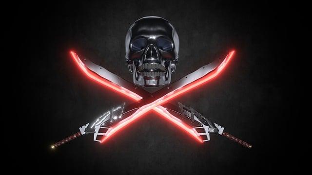 Skull, Dead, Skull And Crossbones, Sword, Sabre, Swords