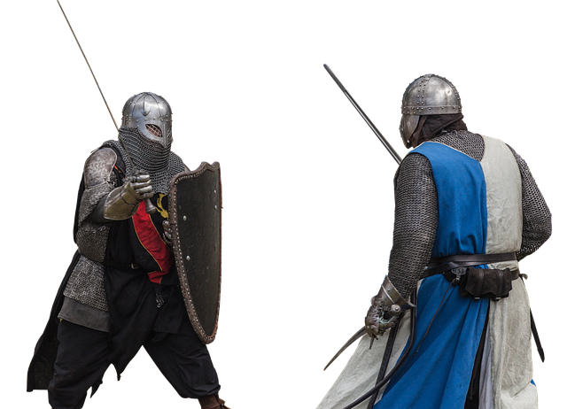 Knight, Sword, Swords, Helm, Fight, Weapon, Clothing