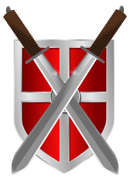 Shield, Swords, Knight, Medieval, Weapon, Warrior