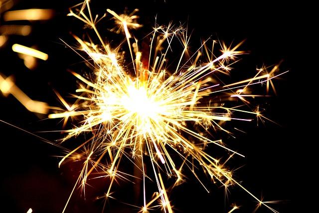 Sparkler, Sylvester, Dark, Shining, Fireworks, Radio
