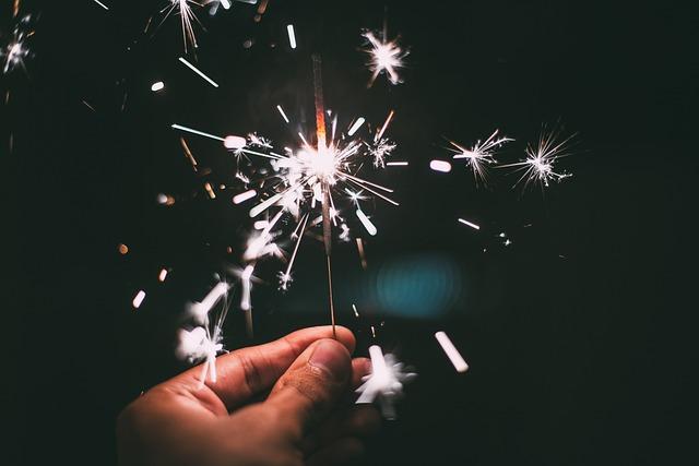 New Year's Eve, Sparkler, Sylvester, Sparks
