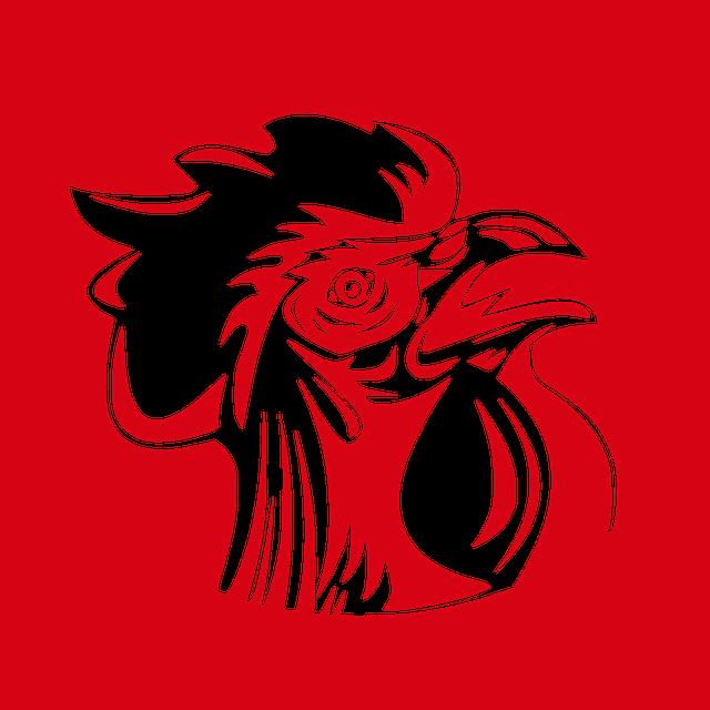 Cock, Logo, Emblem, Symbol, France, Football