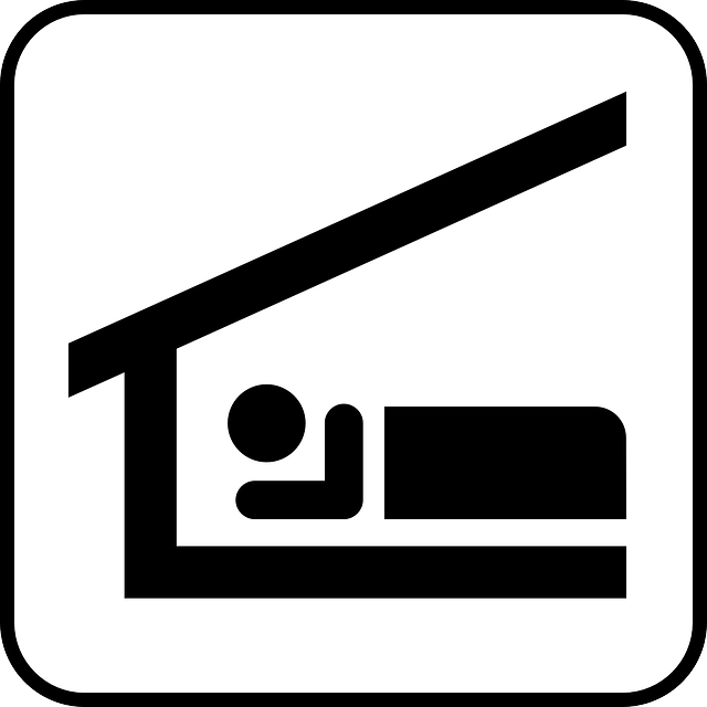 Sleep, Stretcher, Roof, Hut, Sign, Symbol, Icon