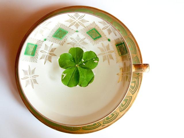 Glückstee, Fünfblättriges Shamrock, Symbol Of Good Luck