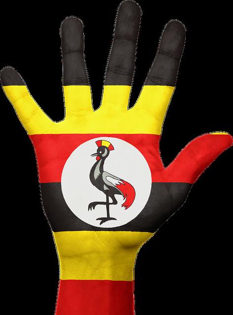 Uganda, Hand, Flag, Patriotic, Patriotism, Sign, Symbol