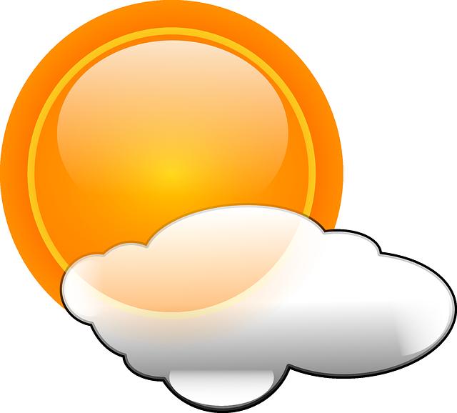 Sun, Clouds, Weather, Cloudy, Symbol