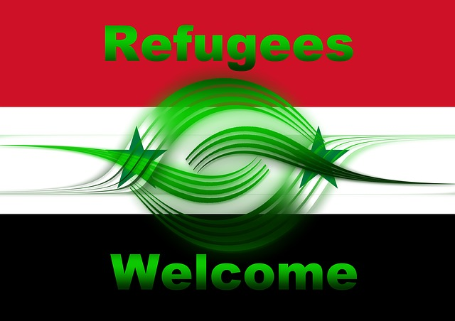 Syria, Refugees, Flag, Welcome, Hand In Hand, Symbol