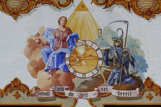 Lüftlmalerei, Lueftelmalerei, Time, Death, Symbolic