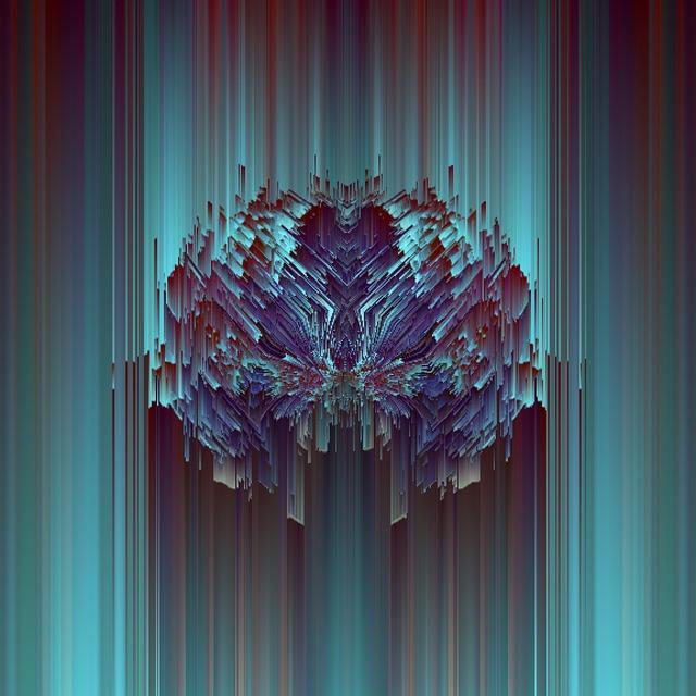 Glitch, Abstract, Mandalas, Symmetric, Neon, Colorful