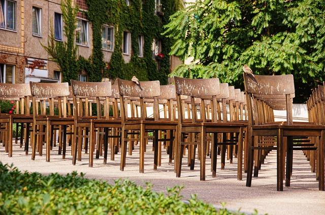 Leipzig, Synagogue Memorial, Chairs, Bronze, Art