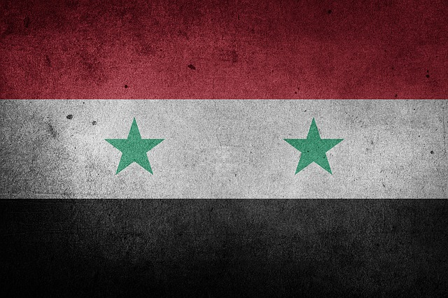 Syria, National Flag, Middle East, Grunge, Flag, Asia