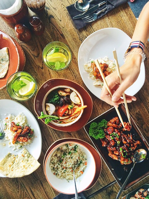 Food, Restaurant, Menu, Asia, Dinner, Table, Café, Deli