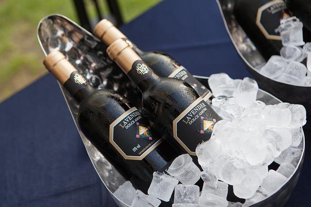 Champagne, Ice, Ice Bucket, Bucket, Table