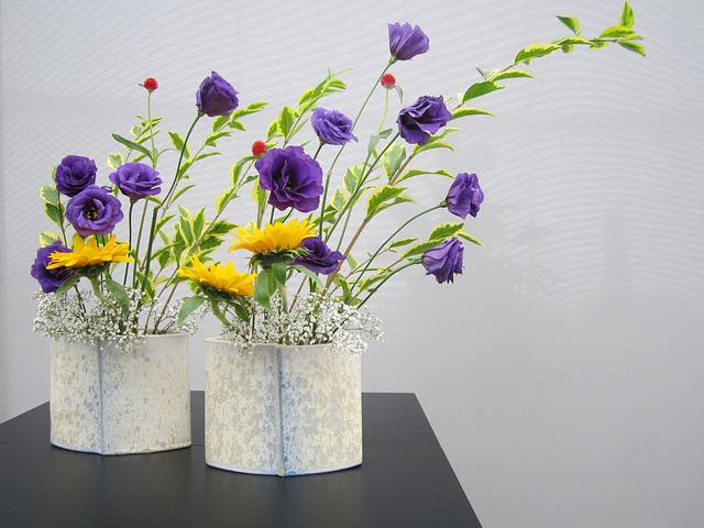 Floral Greeting, Table Decorations, Ikebana, Filigree
