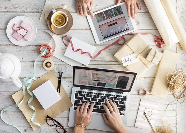 Desktop, Laptop, Crafts, Still Life, Mockup, Table