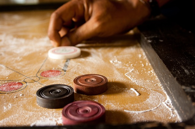 Carrom, Shot, Karrom, Table Game, Game, Pieces, Coins