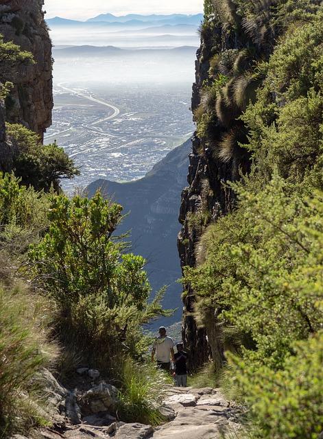 Platteklip Gorge, Table Mountain, Hiking, Sea, Coast