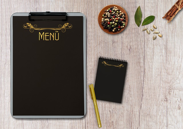 Menu, Writing Pad, Table, Terminal Board, Coolie, Pen