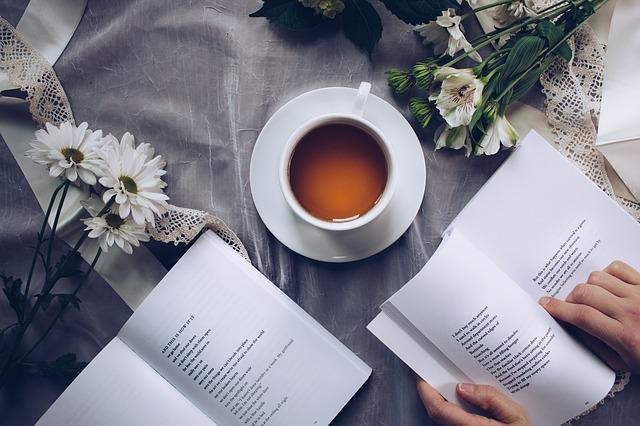 Tea Time, Poetry, Coffee, Reading, Leisure, Table, Cup