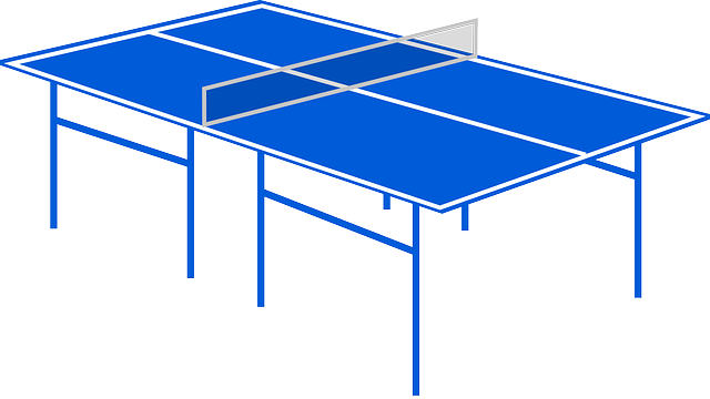 Ping-pong, Table Tennis, Playing Field, Blue, Sports