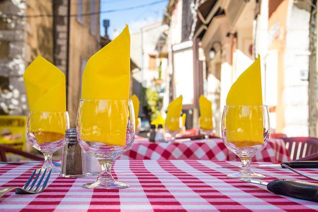 Napkins, Tablecloth, Cutlery, Provence, South Of France