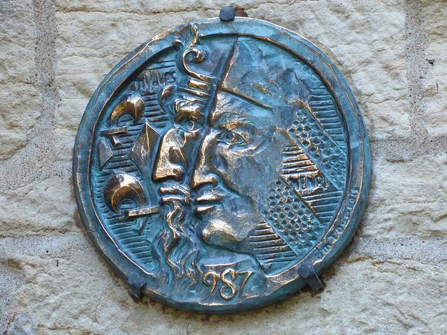 Bronze, Tablet, Capetian Millennium, Hugues Capet