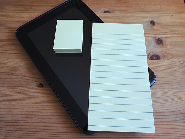Tablet, Postit, Stickies, Adhesive Note