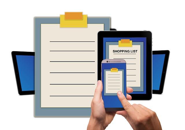List, Shopping List, Tablet, Smartphone, Mobile Phone