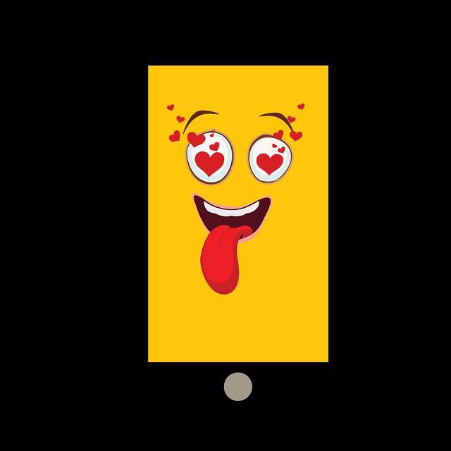 Smartphone, Tablet, Emoji, Yellow, Funny, Joy, Emoticon