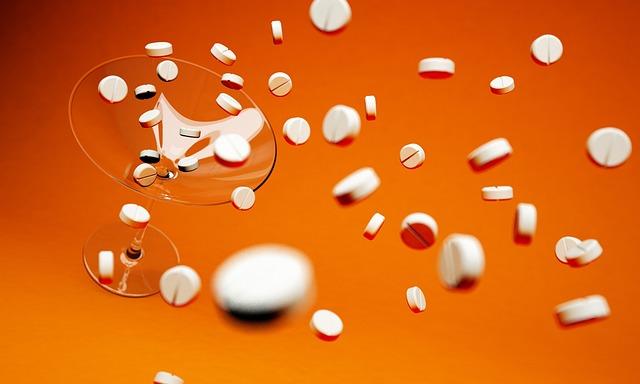 Tablets, Cocktail, Cocktail Tablets, Drugs, 3d, Orange