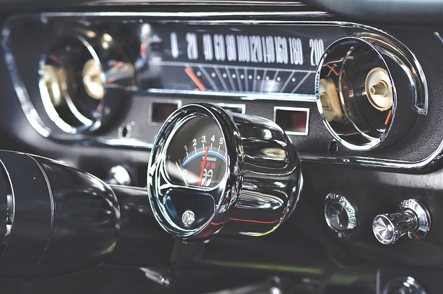 Ford Mustang, Tachometer, Oldtimer, Dashboard, Armature