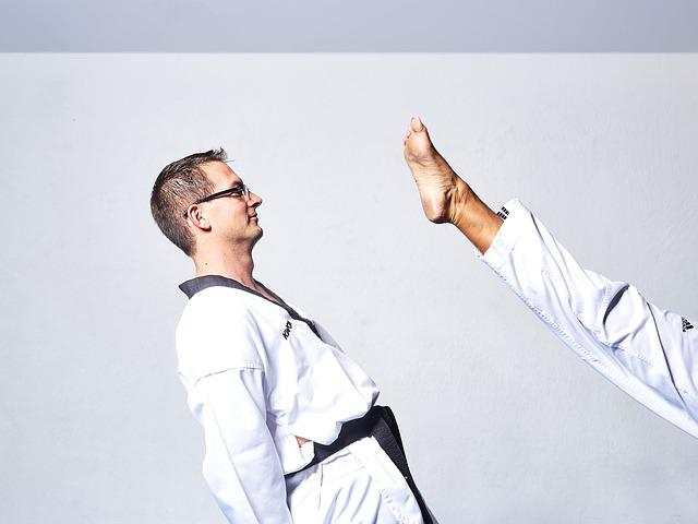 Taekwondo, Fight, Kick, Leg