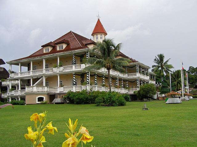 Papeete, Tahiti, Government House, Hotel De Ville