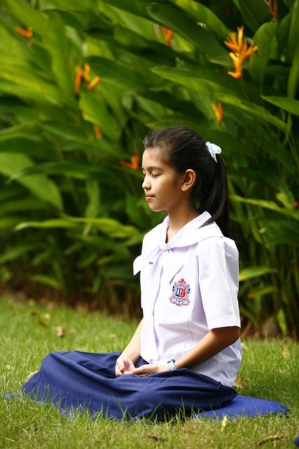 Girl, Buddhism, Meditation, Tailor Seat, Buddhist