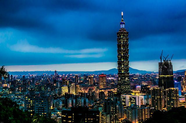 One Hundred And One Building, The Night, City, Taipei