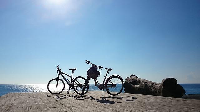 Taiwan, Pingtung, Sunshine, Hai Bian, Bicycle