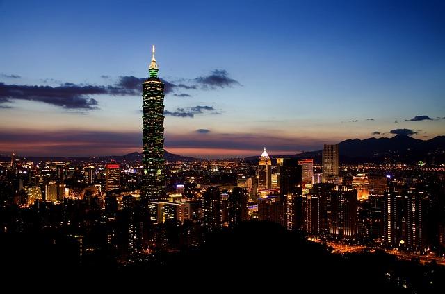 Taipei, Skyline, Taiwan, Cityscape, Metropolitan, 101