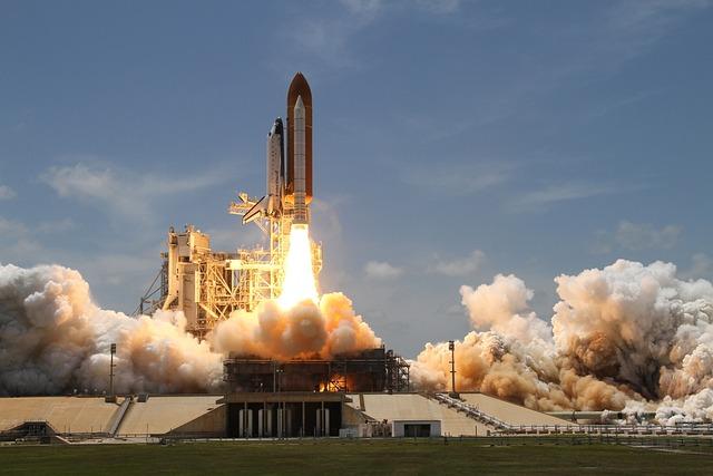 Rocket Launch, Smoke, Rocket, Take Off, Side View, Nasa
