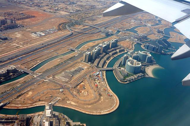 Take-off, View From Above, U A E, Persian Gulf, Wing