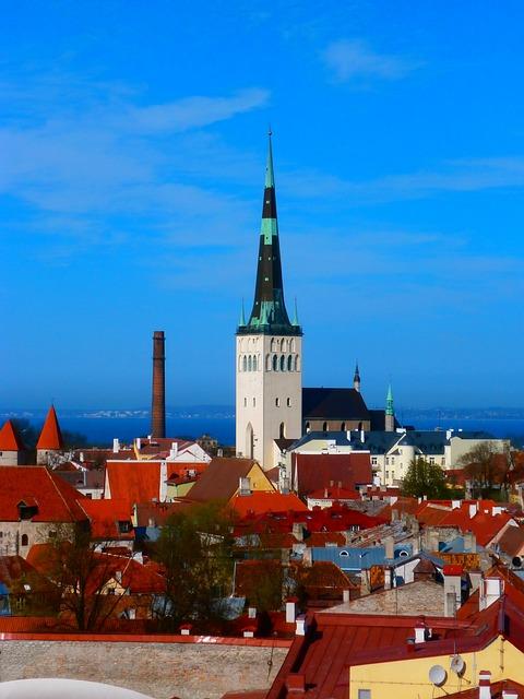 Church, Oleviste, Churches, City, Old Town, Tallinn