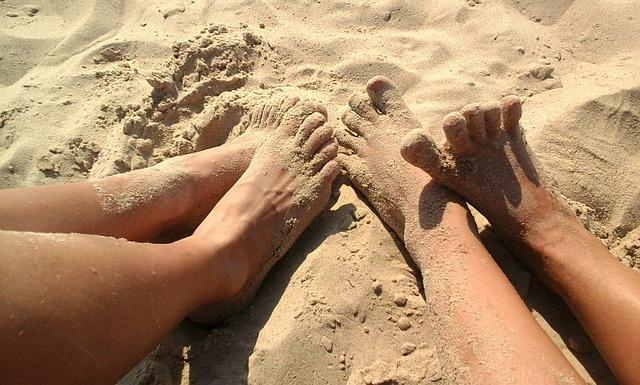 Legs, Sand, Summer, On The Beach, Vacation, Tan