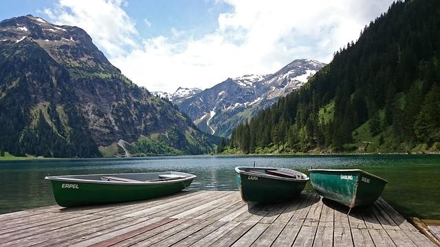 Alpine, Alpsee, Tannheim, Vilsalpsee, Mountains, Boats