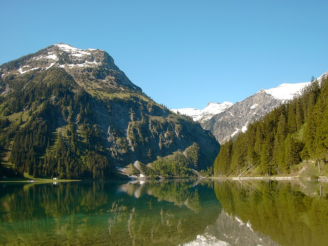 Vilsalpsee, Vilsalpseeberge, Tannheimertal, Tyrol