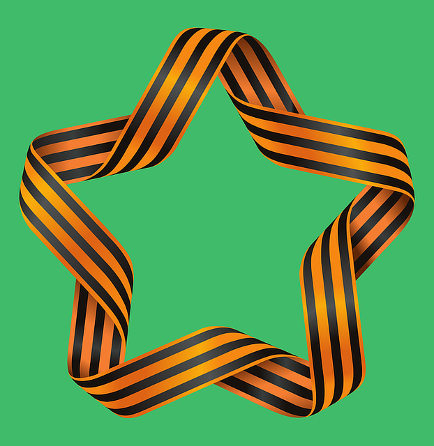 Ribbon Of Saint George, Star, Tape, War, Design, Sign