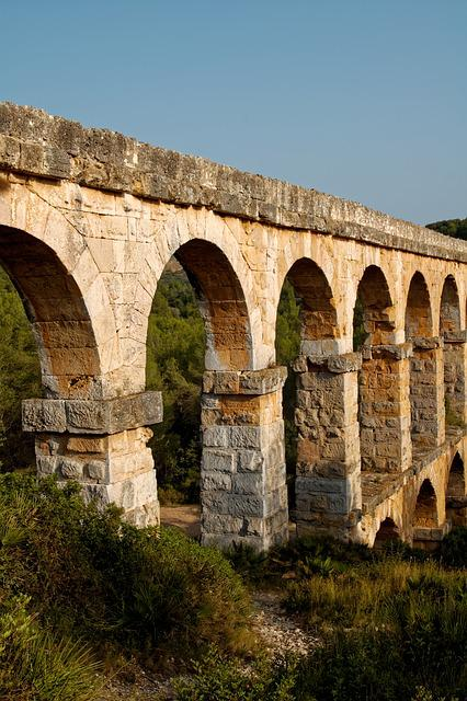Aqueduct, Roman, Ruin, Water, Stone, Arch, Tarragona