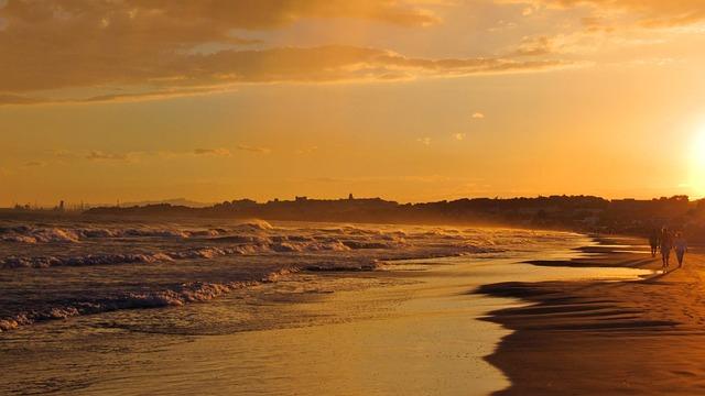 Spain, Water, Sea, Abendstimmung, Sunset, Tarragona