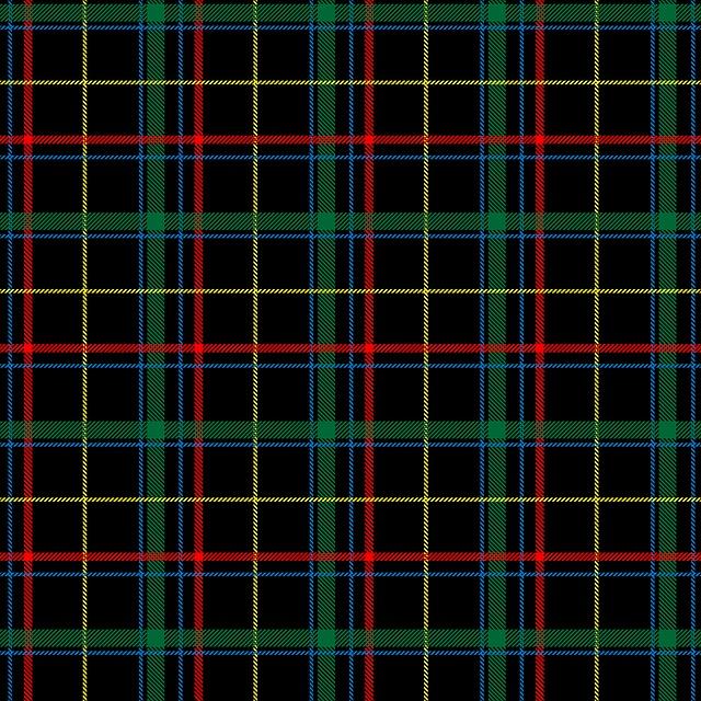 Plaid, Tartan, Checks, Pattern, Background, Red, Black