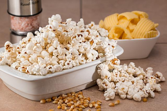 Popcorn, Snack, Salty, Food, Eat, Tasty, White, Corn