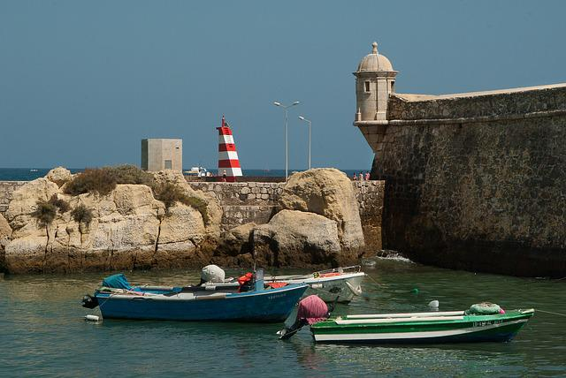 Portugal, Tavira, Port, Lighthouse, Boats