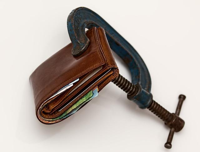 Credit Squeeze, Taxation, Purse, Tax, Economic Stress